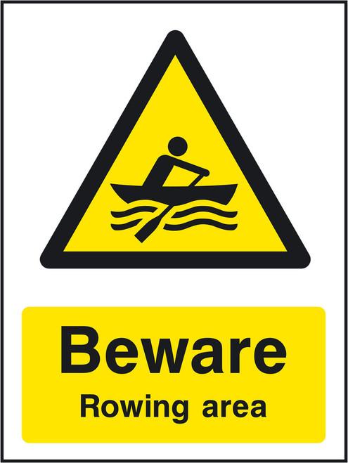Beware Rowing area