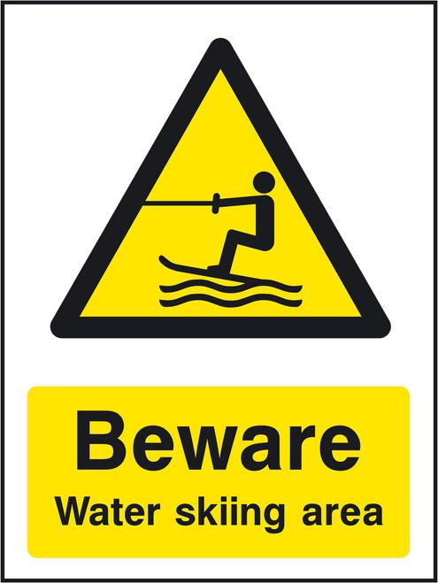 Beware Water skiing area