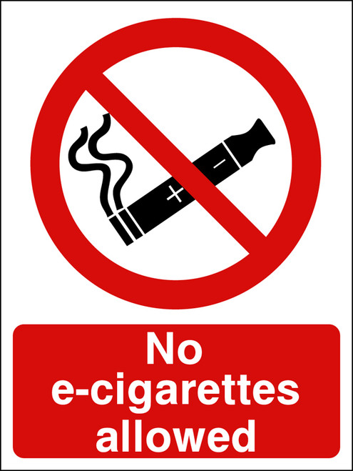 No e-cigarettes allowed