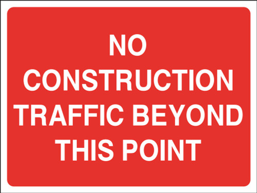 No contractor traffic beyond this point