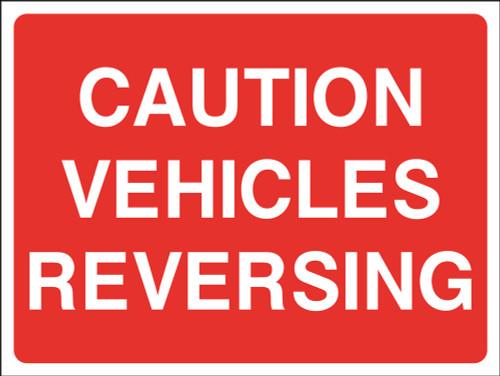 Caution vehicles reversing sign