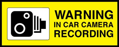 Warning In Car Camera Recording