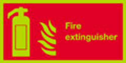 Fire Extinguisher sign, nite-glo