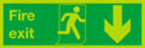 Nite-glo Fire exit Down sign