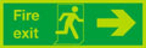 Nite-glo Fire exit Right sign
