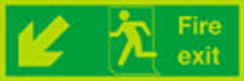 Nite-glo Fire exit sign, Down Left