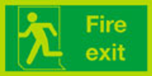 Nite-glo fire exit sign running man left