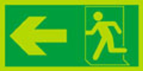 Night glo fire exit sign, Running man Arrow left