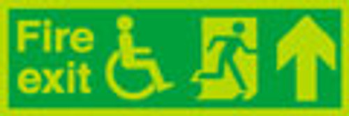 Nite glo  Fire exit up sign