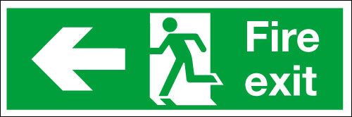Fire exit signLeft