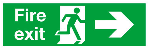 Fire exit sign Right