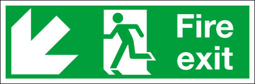 Fire exit sign Down/Left