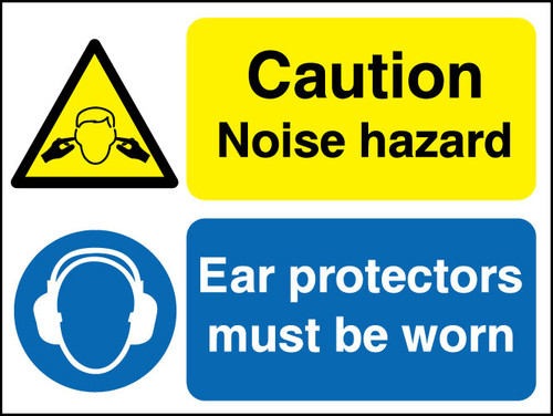 Caution Noise hazard sign
