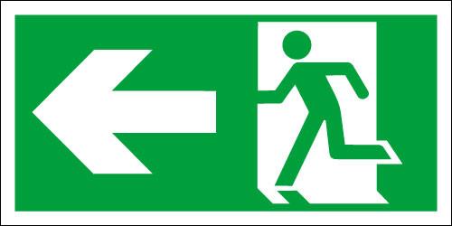 Fire exit sign, Running Man Left