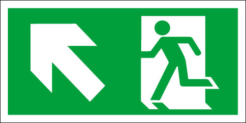 fire exit sign - Running ManUp/Left