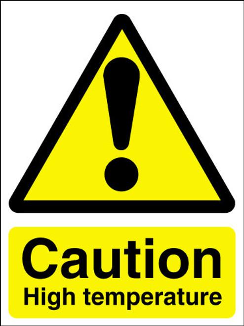 Caution high temperature sign