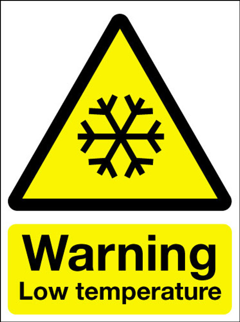 Warning Low Temperature Sign Signs 2 Safety