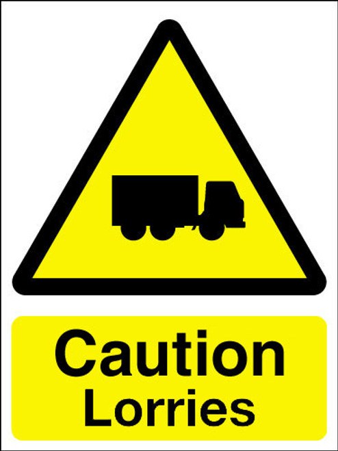 Caution lorries sign