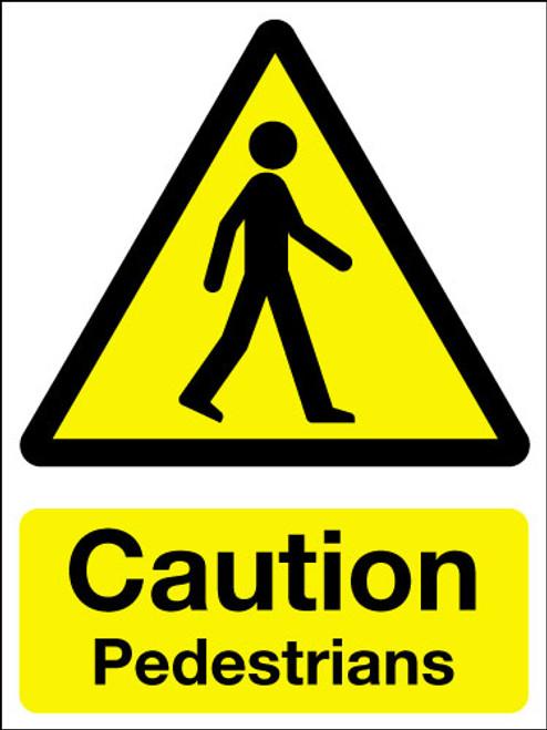 Caution pedestrians sign