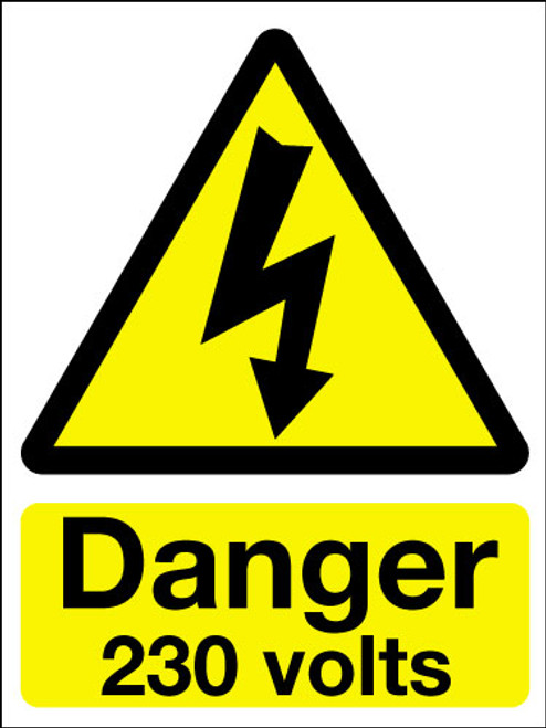Danger 230 volts sign