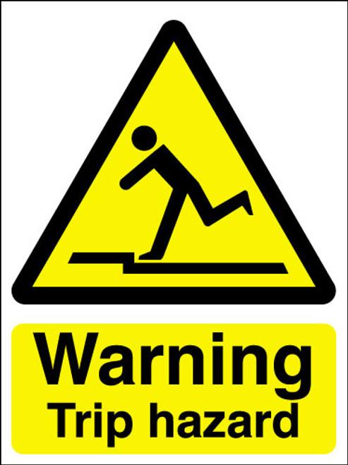 Warning Trip Hazard Sign Signs 2 Safety