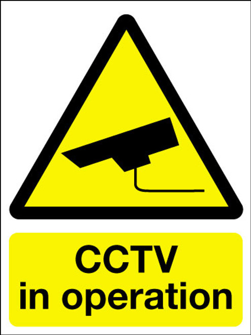 CCTV in operation adhesive sign