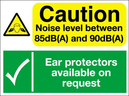 Caution noise level sign