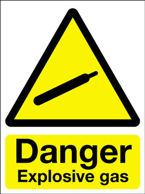 Danger explosive gas sign