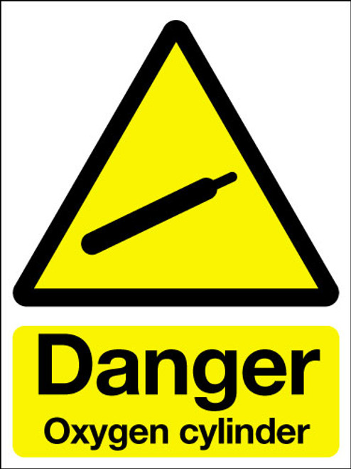Danger Oxygen Cylinder Adhesive Sign Signs 2 Safety