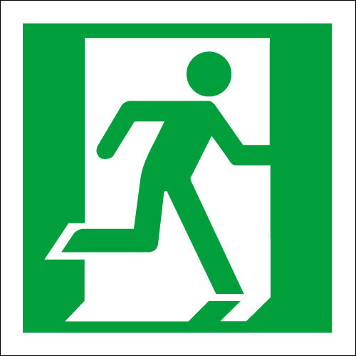 Running Man Right Fire Exit Logo At Discount Price