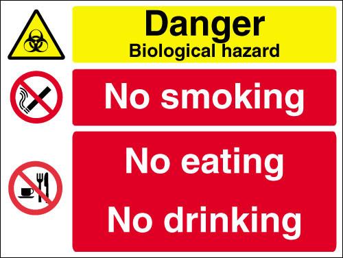 Danger biologicah hazardmulti message sign
