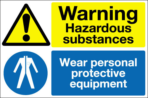 Warning Hazardous Substances Sign Signs 2 Safety