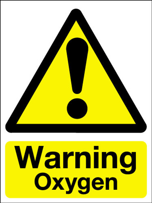 Warning Oxygen Sign Signs 2 Safety