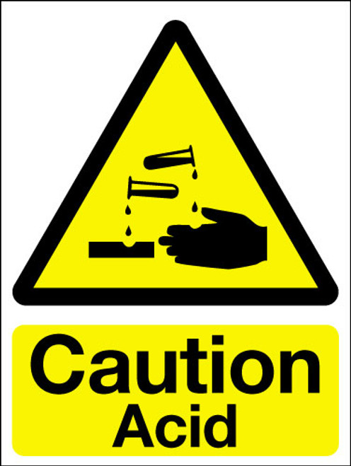 Caution acid sign