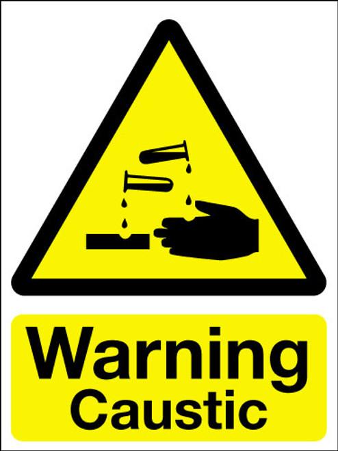 Warning caustic sign