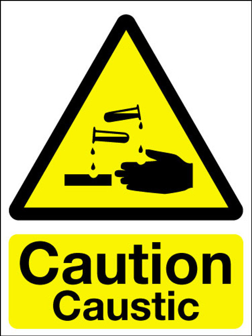 Caution caustic sign