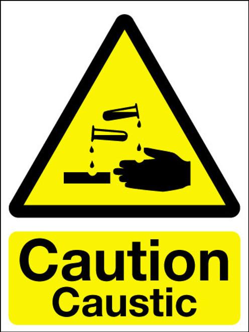 Caution caustic sign