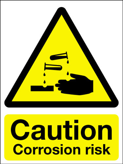 Caution Corrosion Risk Sign Signs 2 Safety