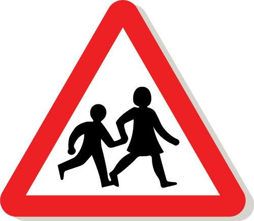 children crossing sign signs 2 safety