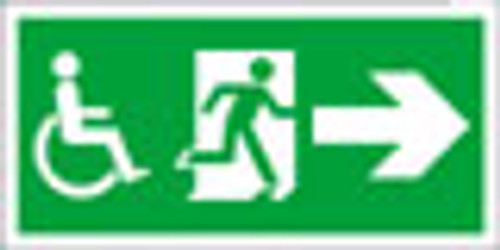 Fire exit safety sign right