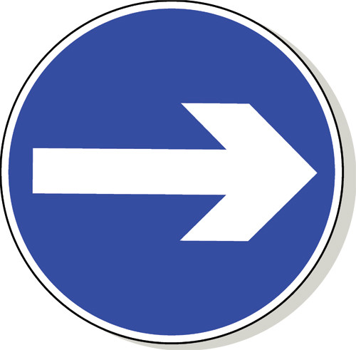 Arrow road sign