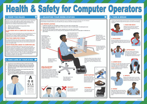 Health & Safety for Computer Operators  Safety Poster