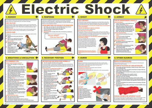 Electric Shock Safety Poster