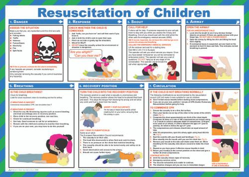 Resuscitation of Children safety poster