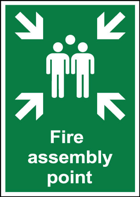 Fire assembly point sign