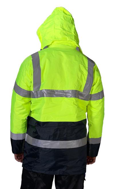 Hi Vis Lined Traffic Jacket