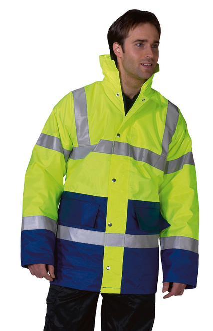 Hi Vis Lined Traffic Jacket