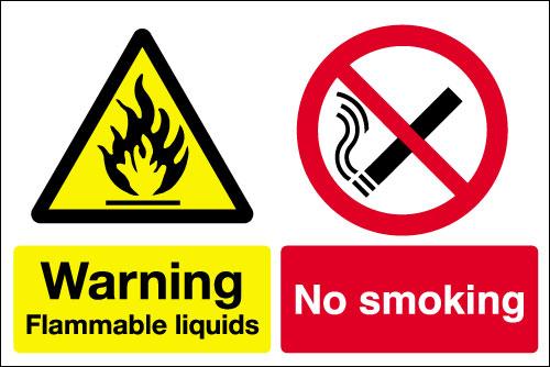 Warning Flammable Liquids No Smoking Sign Signs 2 Safety