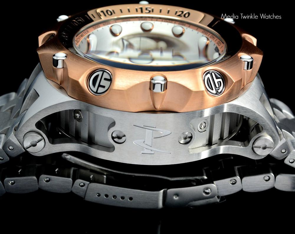 Invicta 16806 Reserve 52MM VENOM Hybrid Rose 5040F Swiss Quartz Chronograph Bracelet Watch   Free Shipping