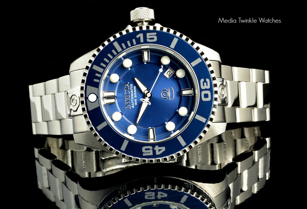 Invicta 19799 Grand Diver 2 Gen II 47mm Automatic Blue Dial Blue Bezel Stainless Steel Bracelet Watch | Free Shipping